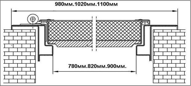 Схема накладной двери